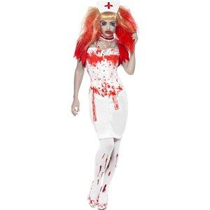Blodstänkt sjuksköterska maskeraddräkt
