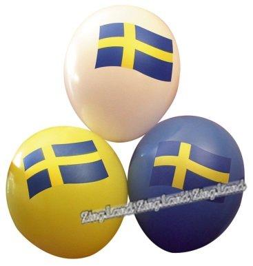 Flaggballonger - 6 st