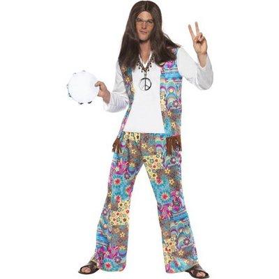 Hippie maskeraddräkt man