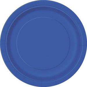 Blå tallrikar - 23 cm
