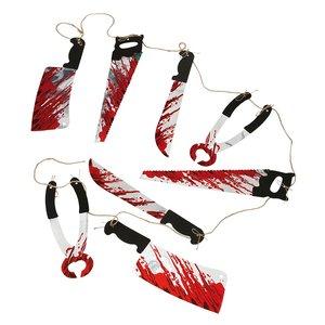 Girlang med blodiga verktyg