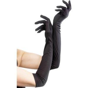 Långa handskar, svarta