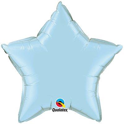 Ljusblå stjärnformad folieballong