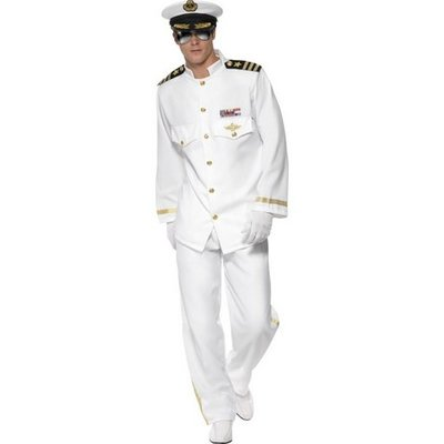 Deluxe kapten maskeraddräkt