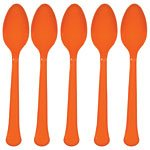 Orange plastskedar - 20 st