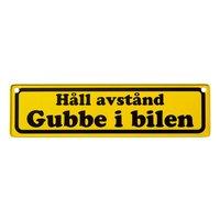 Bilskylt - Gubbe