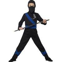 Svart ninja maskeraddräkt