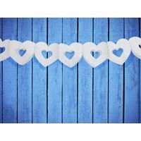 Girlang med vita hjärtan - 3 m