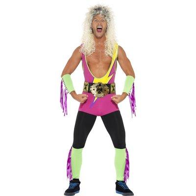 Retro Wrestler kostym, med Body