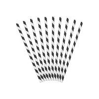 Papperssugrör med ränder - Flera olika färger 19,5 cm 10 st