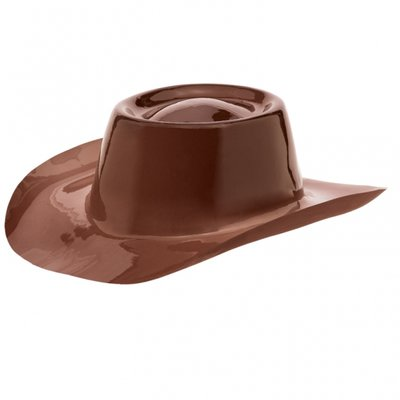 Brun cowboyhatt - plast