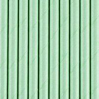 Papperssugrör - Mörk mintgröna 19,5 cm 10 st
