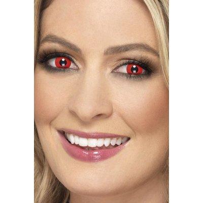 Devil 1 dags kontaktlinser - Röd