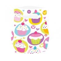 Muffins partypåsar i plast - 6 st