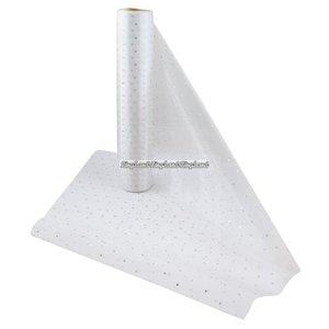 Organza rulle vit med prickar och glitter