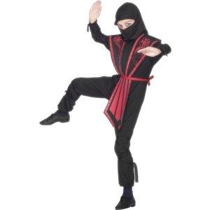 Ninja maskeraddräkt, barn, svart