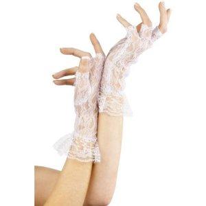Handskar fingerlösa vitt