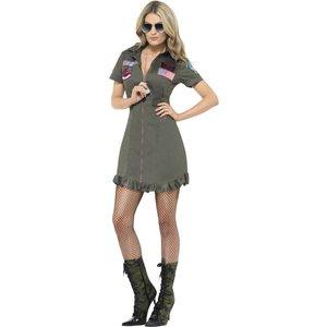 Top Gun överdel kvinnlig maskeraddräkt