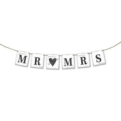 Banderoll - Mr Mrs 77 cm