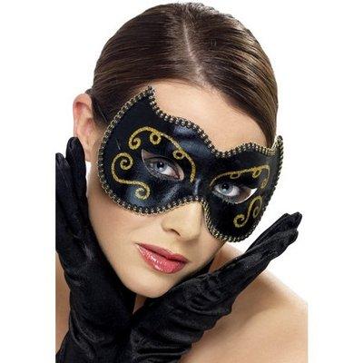Ögonmask persisk svart och guld