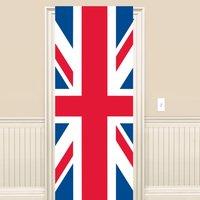 Brittiska flaggan dörröverdrag 1,5m