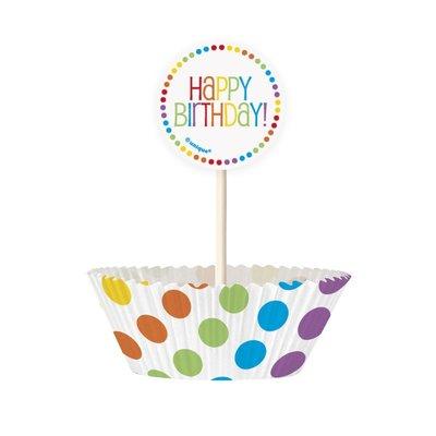 Cupcake kit - Rainbow birthday 24 st