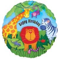 Folieballong djungeldjur till födelsedagen