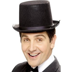 Hög hatt i filt - Gentelmans delight