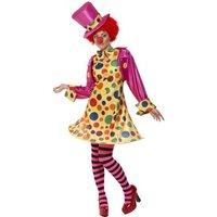 Clowntjej maskeraddräkt