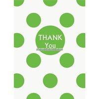 Grön prickigt thank you tackkort - 8 st