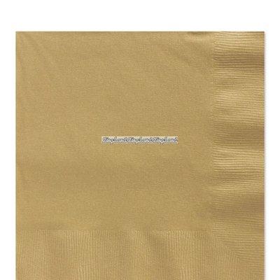 Guldfärgade pappersservetter