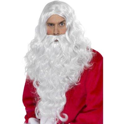 Jultomte lång peruk