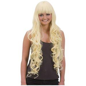 Professionell peruk - Blond långt lockigt