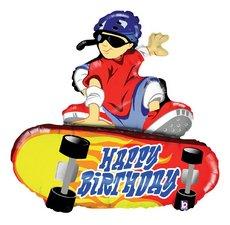 Folieballong - Happy Birthday Skateboard Shape