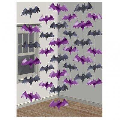 Hängande fladdermöss Halloween festdekoration - 6 st