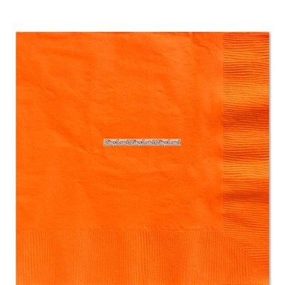 Orange pappersservetter