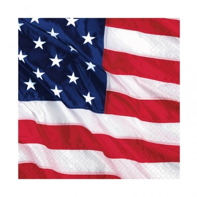 Amerikanska flaggan -pappersservetter 3-lagers - 16 st