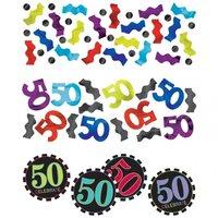 50-års födelsedag bordskonfetti - 34 g
