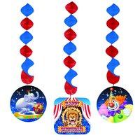Big top circus fest hängande pappfigurer - 3 st