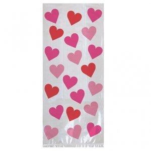 Valentines cellofan kalaspåsar - 20 st
