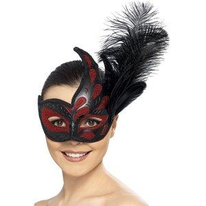Colombina ögonmask - Röd