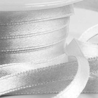 Silverfärgat band - 6mm - 25 m