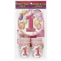 Dukningskit - Första Födelsedagen Rosa