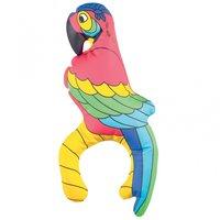 Uppblåsbar papegoja - höjd 28 cm