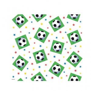 Bordsduk i plast till festen - med fotbollar