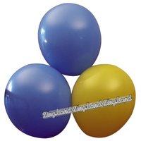 Blå och gula ballonger - 10 st