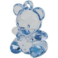 Blå teddy kristall imitation - 6 st