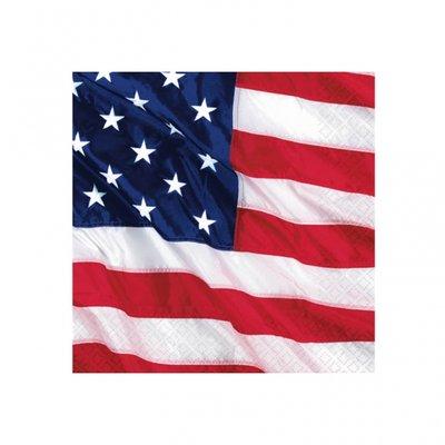 Amerikanska flaggan - kaffeservetter 3-lagers - 16 st