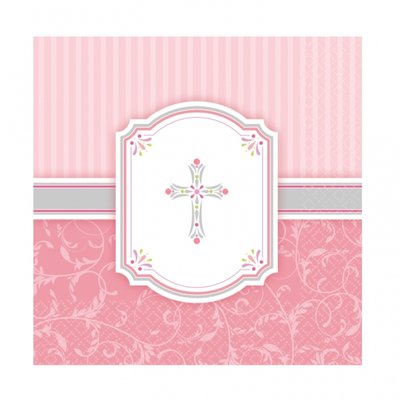 Servetter 2-lags rosa - 16 st