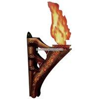 3D vägg fackla med flamma - 43cm